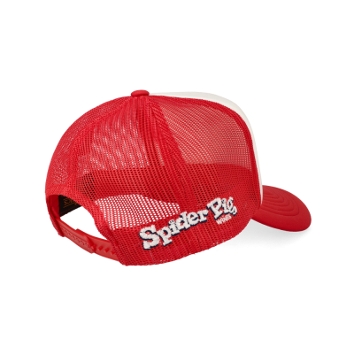 Spider Pig Blue Red Beard Snapback Cap