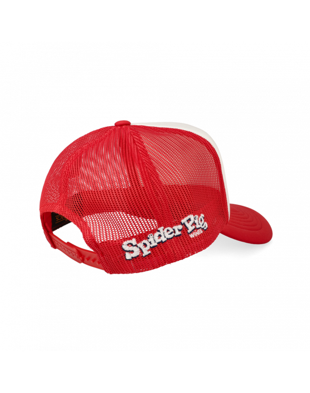 Spider Pig Blue Red Beard Snapback Cap